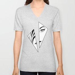 Geometric Girl Unisex V-Neck