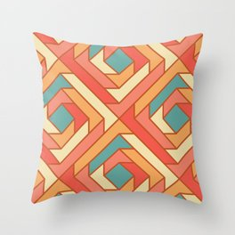 Square Flowers Throw Pillow