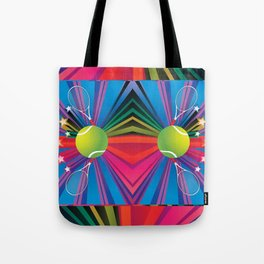 Tennis ball with rackets Tote Bag