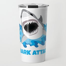 Great White Shark Attack Travel Mug