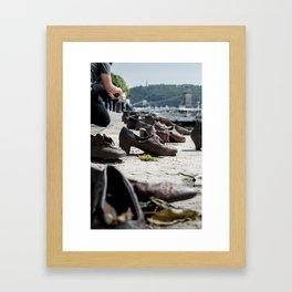 Shoes on Danube Bank, Budapest Framed Art Print