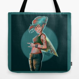 Shark Girl Tote Bag