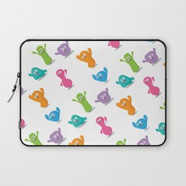 Happy colours cheering -pattern Laptop Sleeve