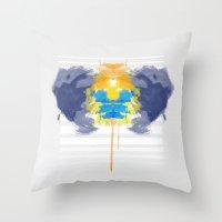 rorschach Throw Pillows featuring Rorschach by alboradas