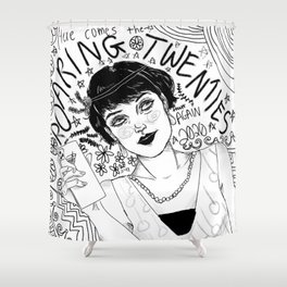 Here Comes The Roaring Twenties Again Shower Curtain