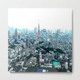 My Love - Tokyo Tower Skyline Metal Print