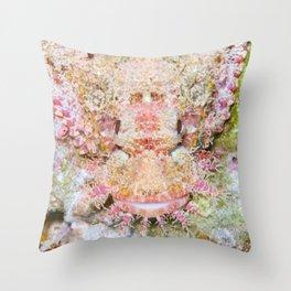 Flamboyant scorpionfish Throw Pillow