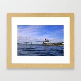 Rose Island and Newport Rode Island Bridge combo Framed Art Print