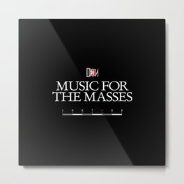 DM : Music For The Masses Title Metal Print
