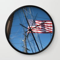 flag Wall Clocks featuring Flag by courtney2k ⚓ design™