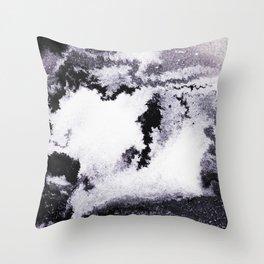 titanium white / carbon black / silver Throw Pillow
