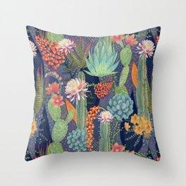 Modern Cactus Print Throw Pillow