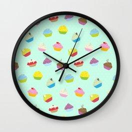 Cupcakes - mint Wall Clock