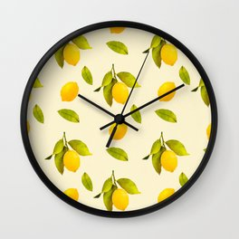 Lemon Pattern Wall Clock