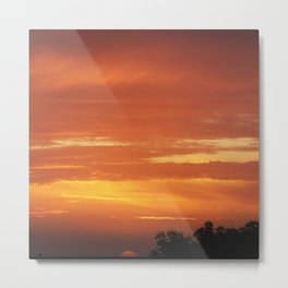 Romantic cloudy sunset Metal Print