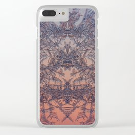 Fire from frost Clear iPhone Case