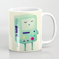 nan lawson Mugs featuring Who Wants To Play Video Games? by Nan Lawson