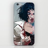 mia wallace iPhone & iPod Skins featuring Mia Wallace by Azahara Blue