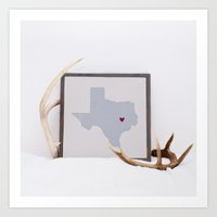 texas Art Prints featuring Texas by Broad Arrow Designs