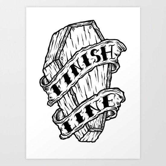 Finish Line. Art Print