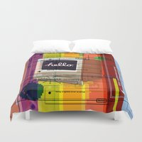 mac Duvet Covers featuring Hello Mac by Roberlan Borges