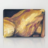 musa iPad Cases featuring Musa en amarillo by Ziuhtei Erdmann