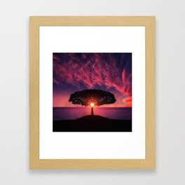 Sunset On The Sea Framed Art Print