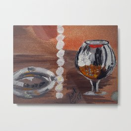 """Thumbnail of the painting """"White beads"""" #1 Metal Print"""