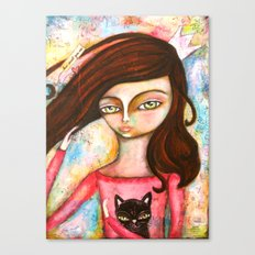 The Black Cat Princess Canvas Print