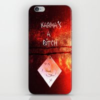 karma iPhone & iPod Skins featuring Karma by Veronica Ventress