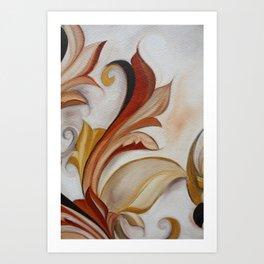 Floral Scroll Series-no.777 Art Print
