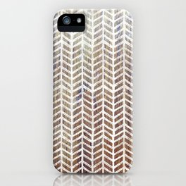 Herringbone And Teak iPhone Case