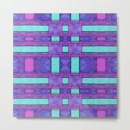 Painted cyan and magenta parallel bars Metal Print