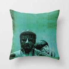 BUDDHA GIRL - SILENCE - quote Throw Pillow