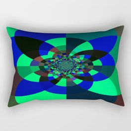Green Blue Kaleidoscope Rectangular Pillow