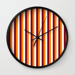 Team Colors 4... orange , maroon and white Wall Clock