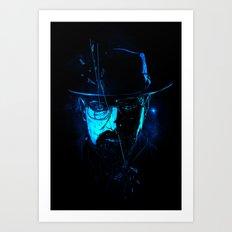 Mr. White (Crystal Blue) Art Print