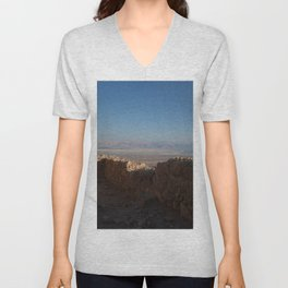 View from Masada, Israel Unisex V-Neck