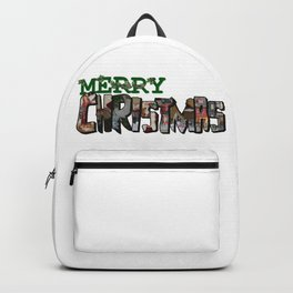 Big Letter Merry Christmas Backpack