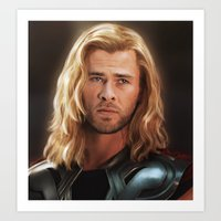 thor Art Prints featuring Thor by LindaMarieAnson