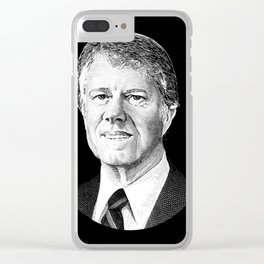President Jimmy Carter Graphic Clear iPhone Case