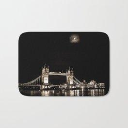 Tower bridge and the moon Bath Mat