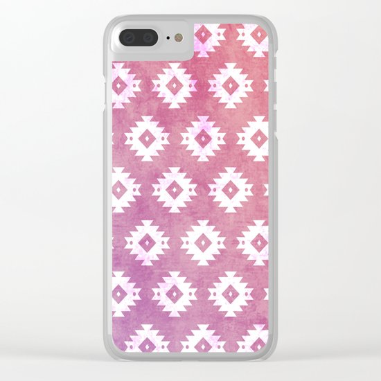 Aztec Pattern 10 Clear iPhone Case