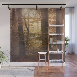 Autumn Came, With Wind & Gold. Wall Mural