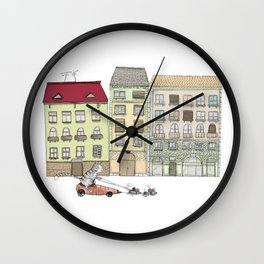 Budapest and the wandering cat Wall Clock