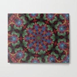 Scarab Lotus Mandala Metal Print