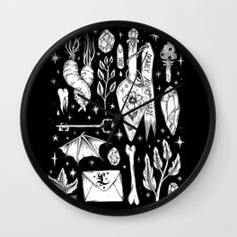 into the WITCH'S GARDEN Wall Clock