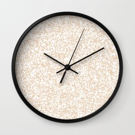 Tiny Spots - White and Pastel Brown Wall Clock