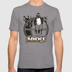 The Force Abides Mens Fitted Tee Tri-Grey LARGE