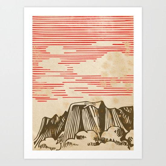 Carpathian mountains Art Print